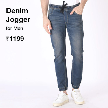 Denim Jogger for Men - Bewakoof.com