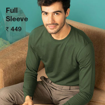 Buy Men's Full Sleeve T Shirt Online India - Bewakoof.com