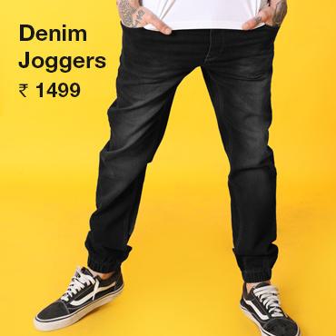 Buy Denim Joggers for Men - Bewakoof.com