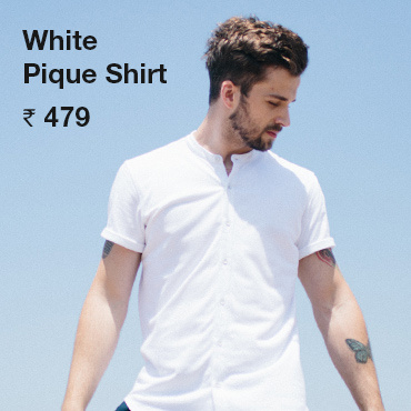 Buy White Pique Shirt for Men - Bewakoof.com