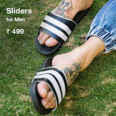 Buy Men's Sliders Online India - Bewakoof.com