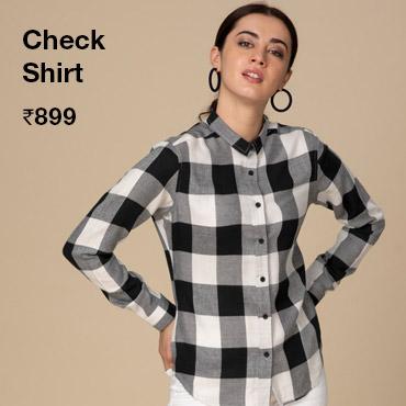 Womens check Shirt - Bewakoof.com