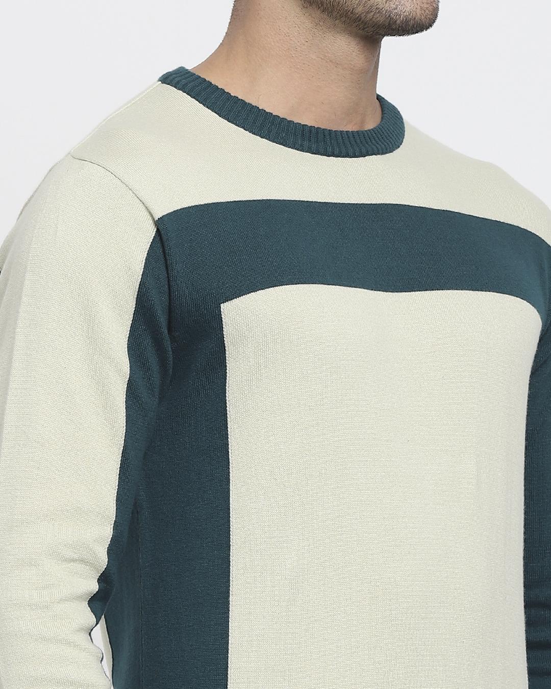 ShopAloe Wash Color Block Flat Knit Sweater-Full