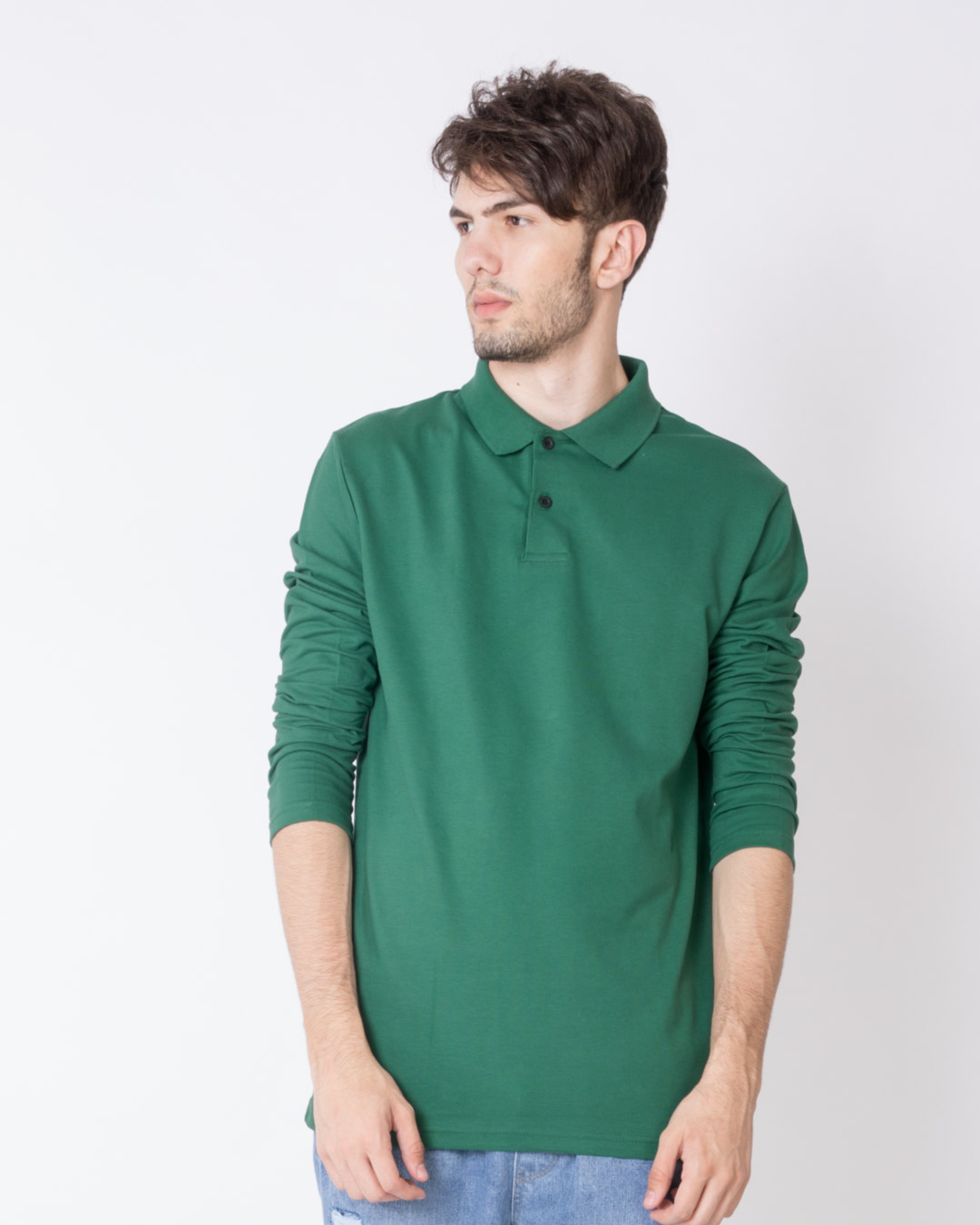 Amazon green full sleeve pique polo t shirts amazon for Full sleeves t shirts for men