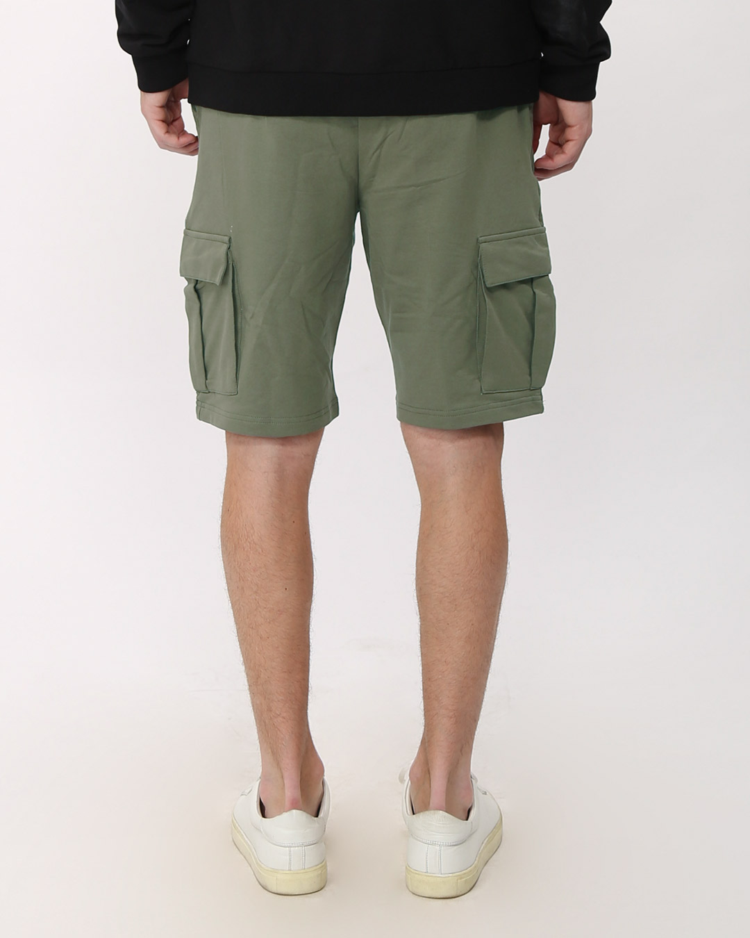5c1823e0f7 Army Green Fleece Cargo Pocket Shorts - Army Green Plain Mens Shorts@Best  Price India - Bewakoof.com