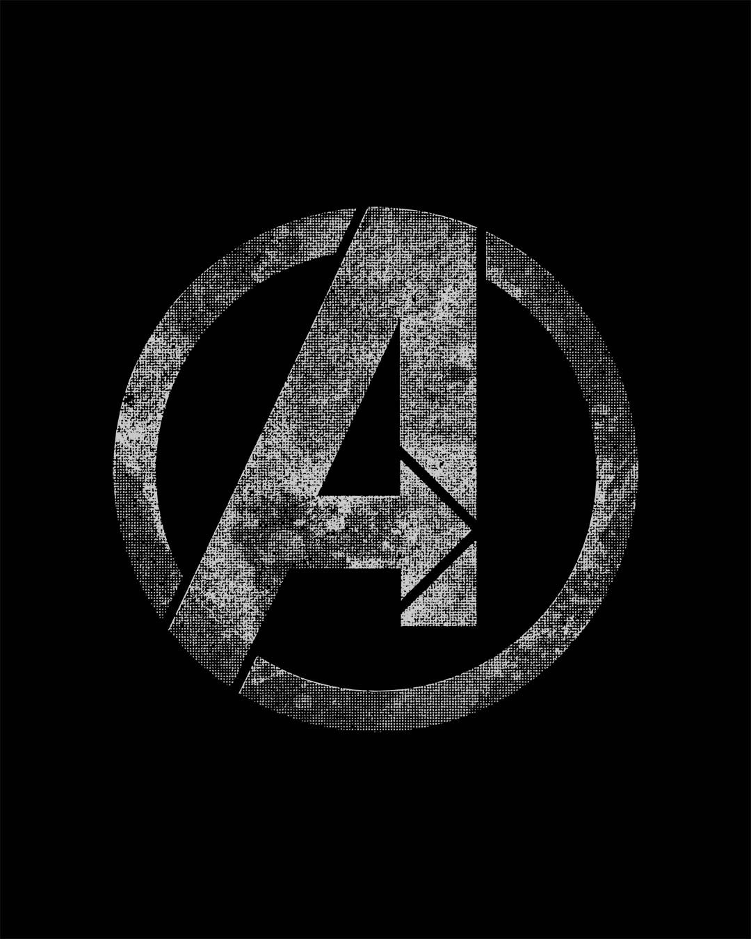 buy avengers logo distressed black printed half sleeve t shirt for