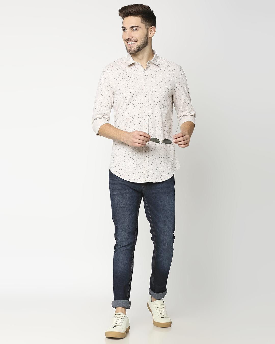 ShopBeige Cotton Melange Shirt
