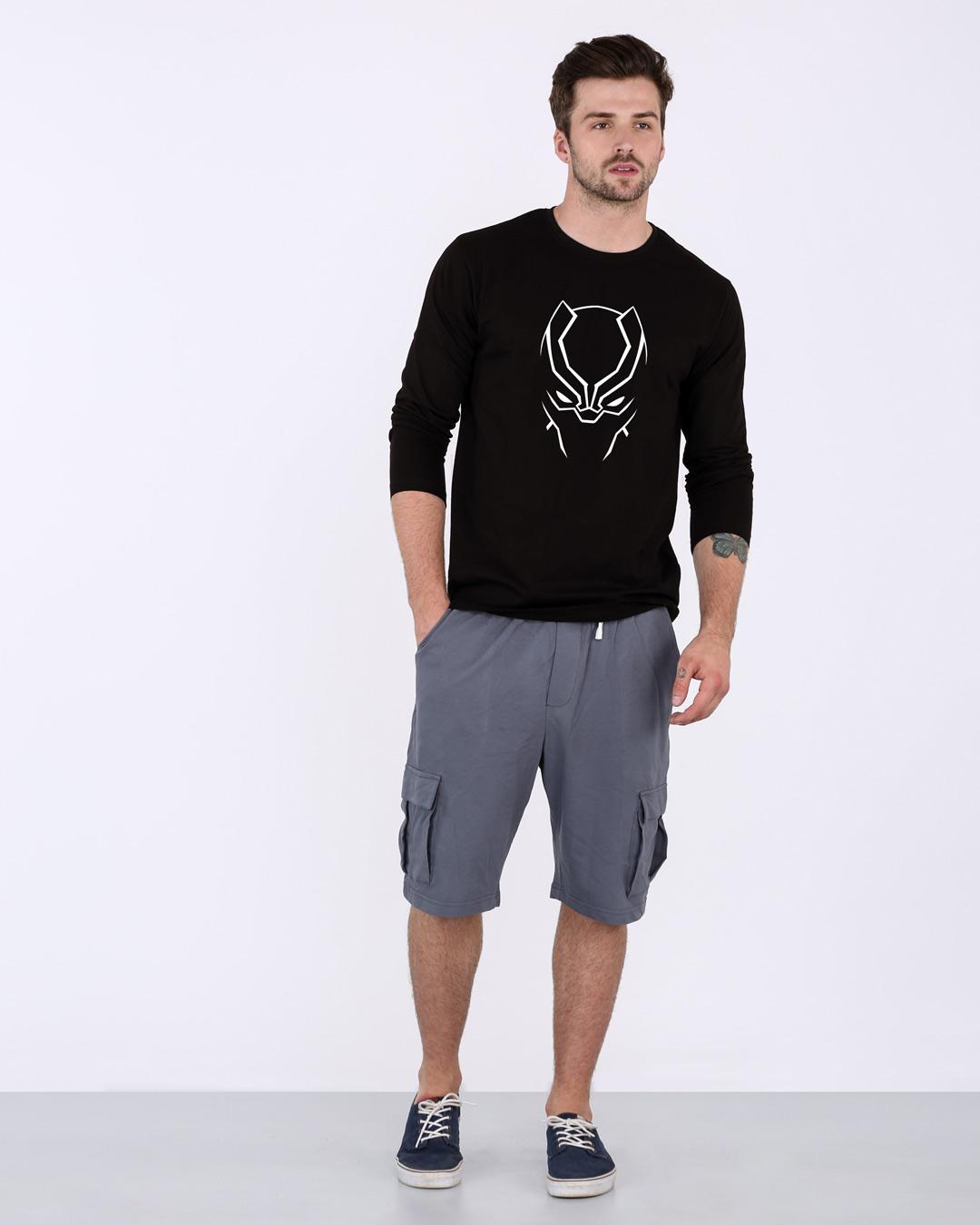 3cec61f10 Buy Black Panther Minimal (GID) Printed T-Shirt For Men Online India @  Bewakoof.com