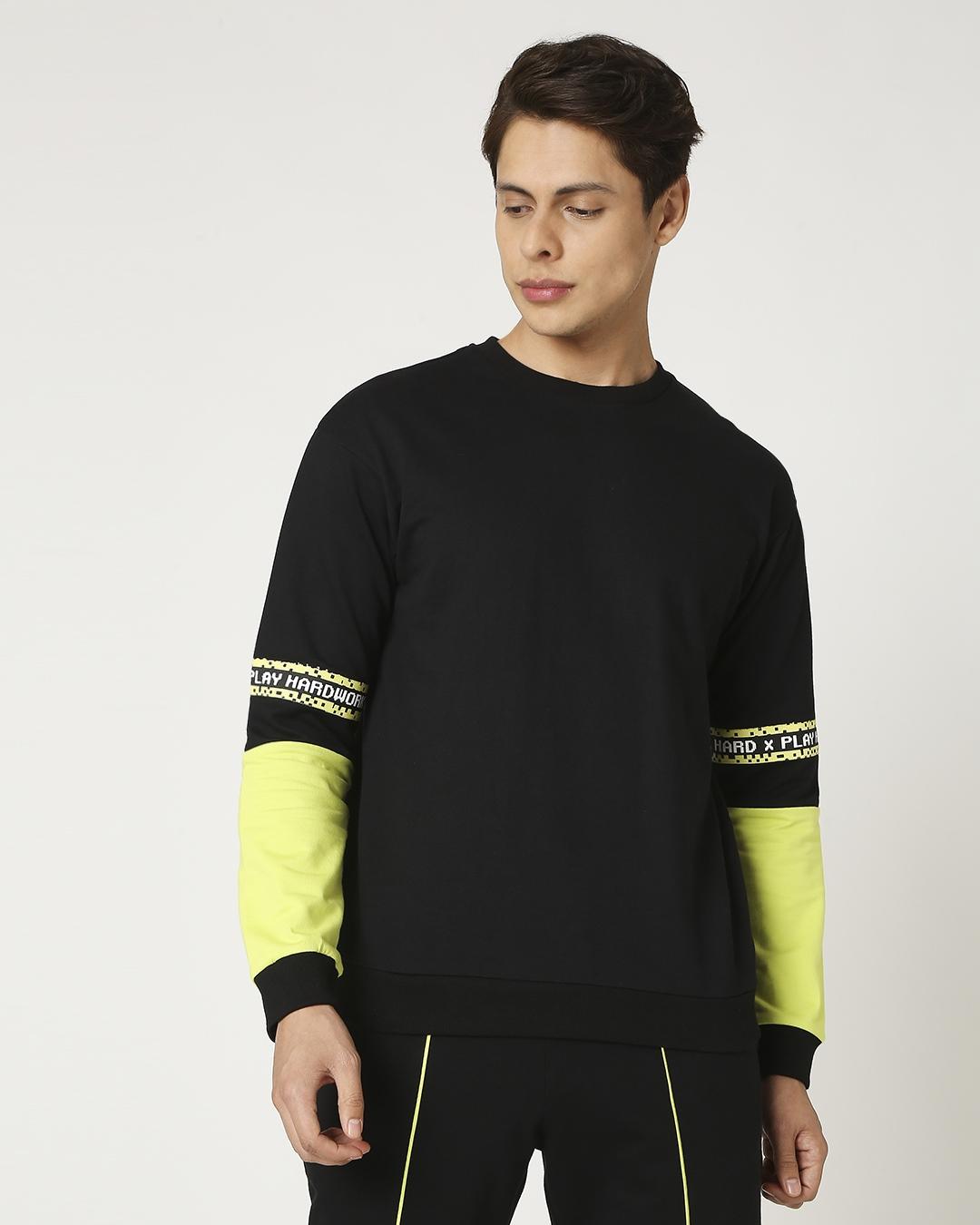 ShopArcade Green Contrast Sweatshirt-Design