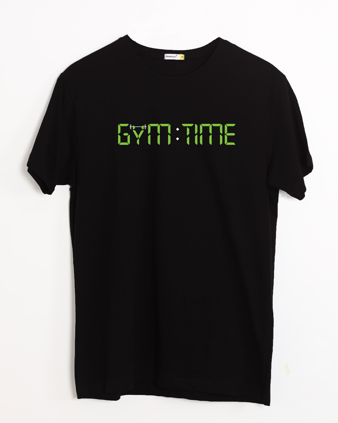 Buy gym time black printed half sleeve t shirt for men for Full sleeve t shirts online