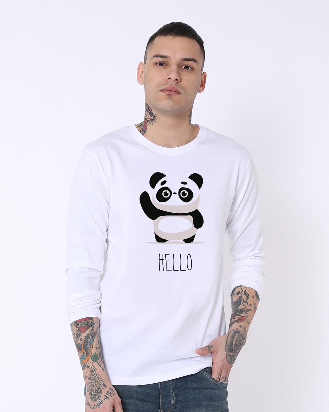 Buy hello panda printed full sleeve t shirt for men online for Jockey full sleeve t shirts india