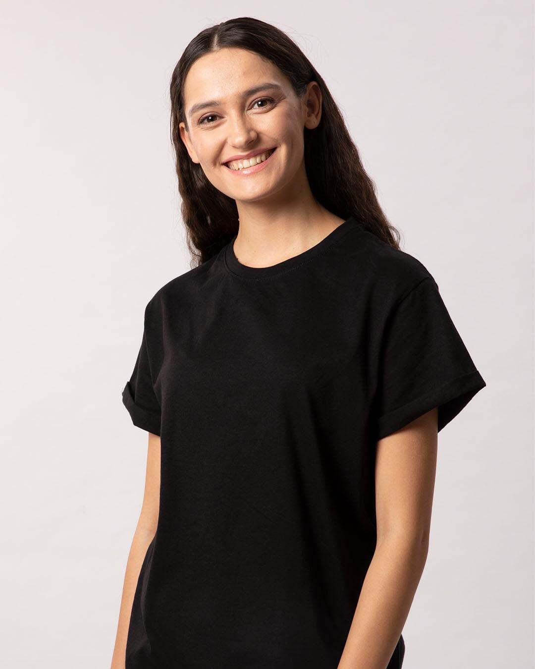 0dc2628362d7 Buy Black Boyfriend T-Shirt Women's Boyfriend T-shirt Online India -  Bewakoof.com