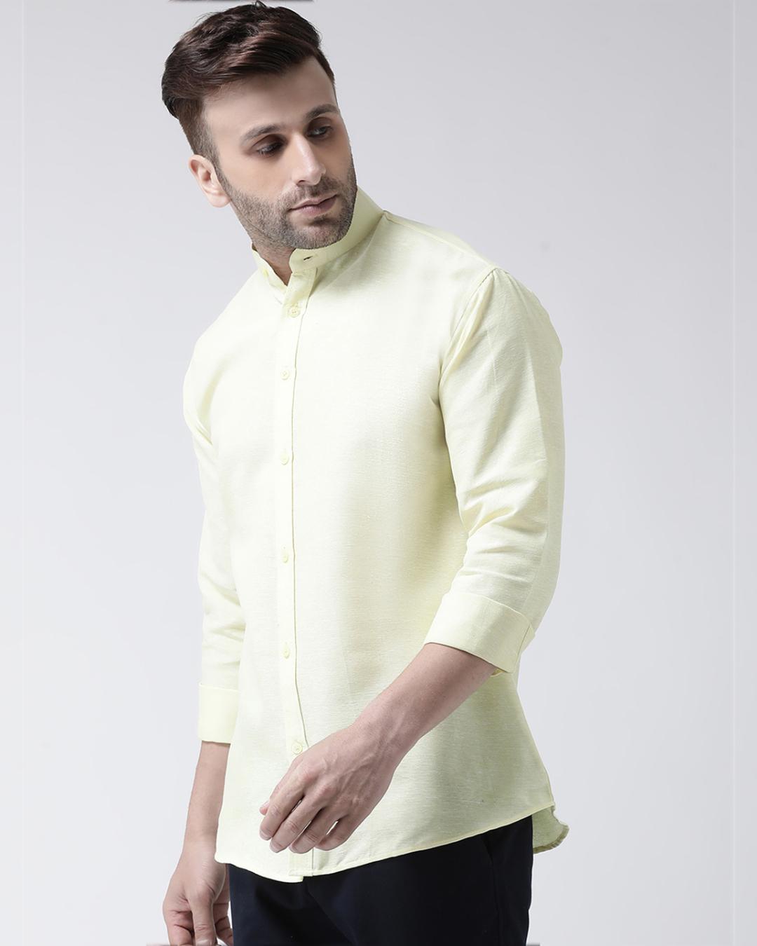 ShopFull Sleeves Cotton Casual Chinese Neck Shirt-Design