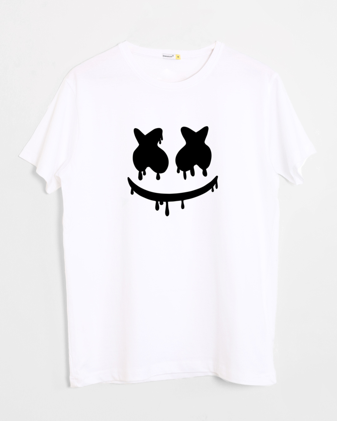 Online Design House Buy Marshmello Mask Printed Half Sleeve T Shirt For Men