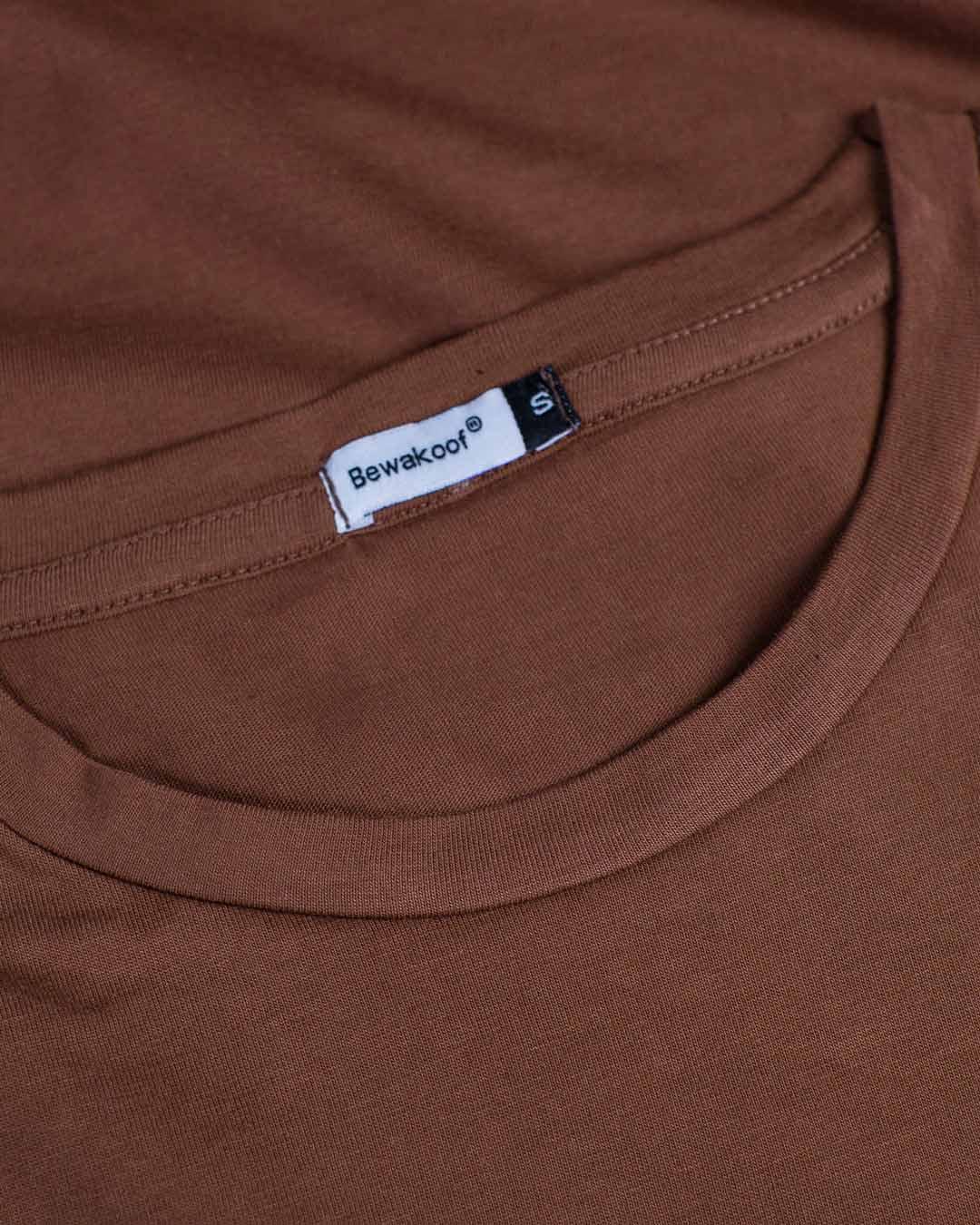 a4885ffe859 Mocha Brown Basic T-Shirt Dress - Plain Womens Basic T-Shirt Dress  Best  Price India - Bewakoof.com