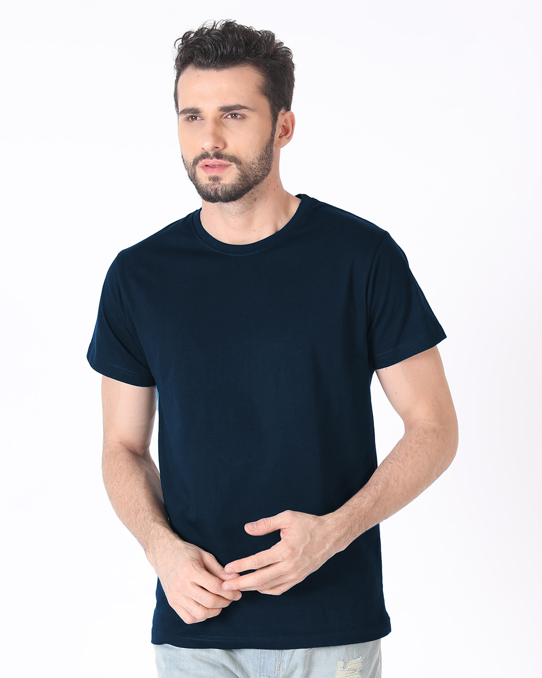 Blue Navy shirt men pictures new photo