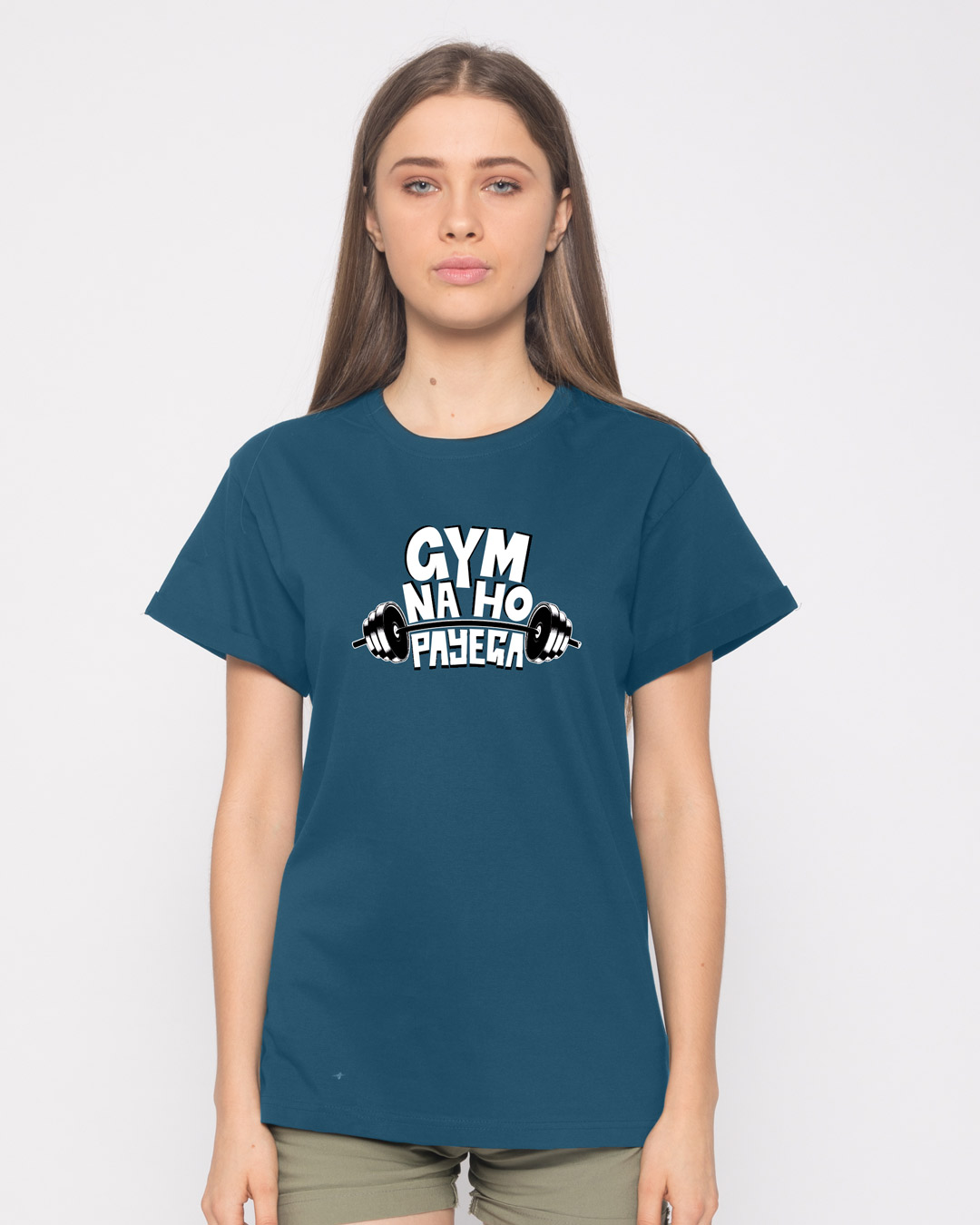 Buy no gym printed half sleeve boyfriend t shirt for women for Gym printed t shirts