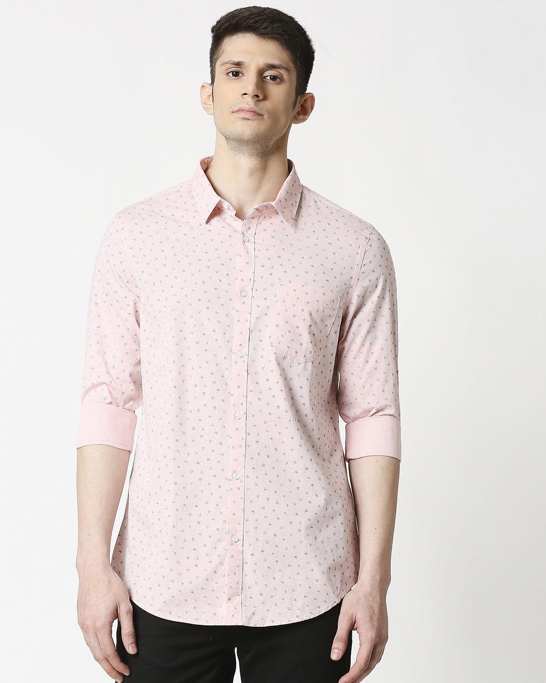 ShopPink Cotton Melange Shirt-Back