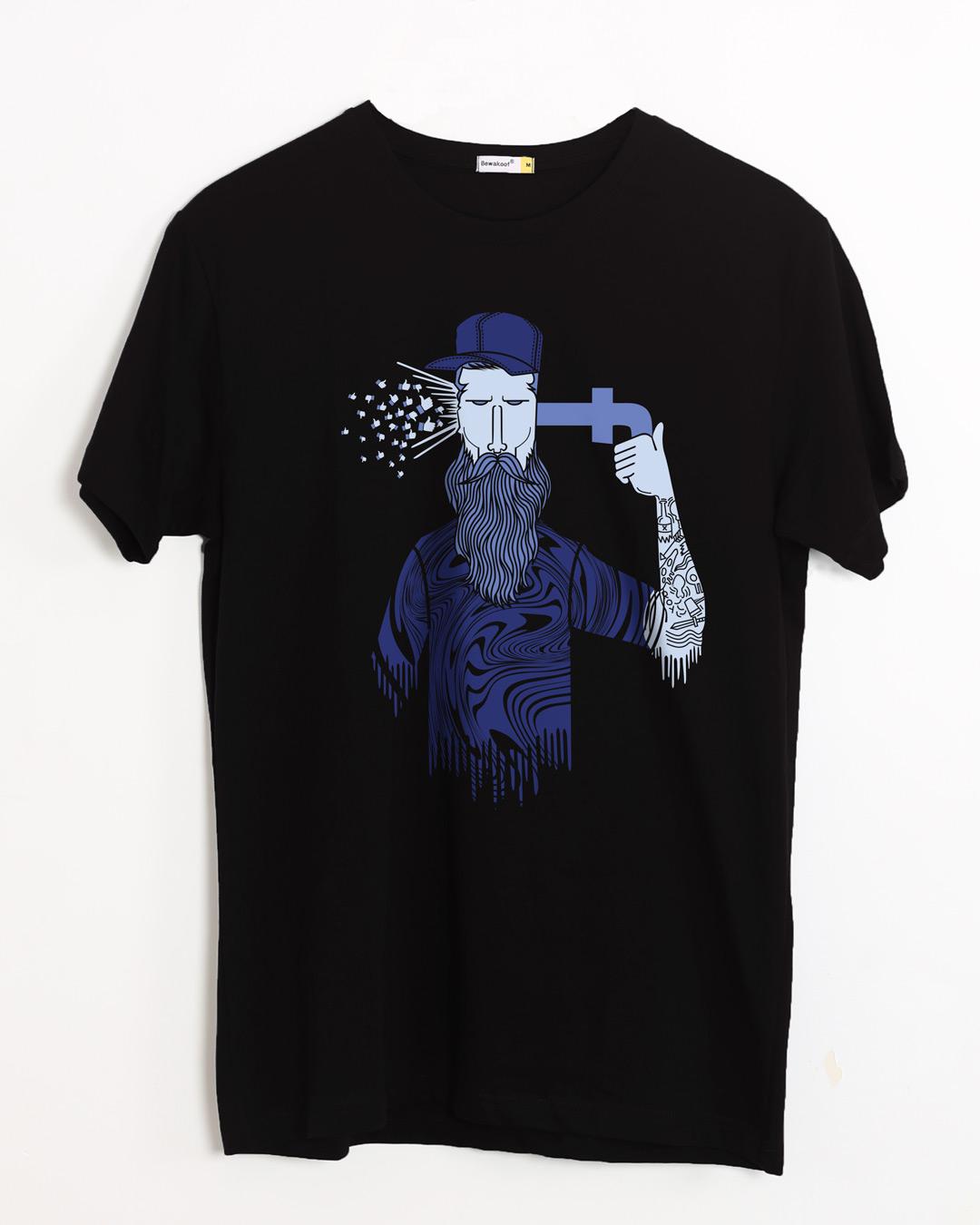 Buy social media bang printed half sleeve t shirt for men for Full sleeve t shirts online