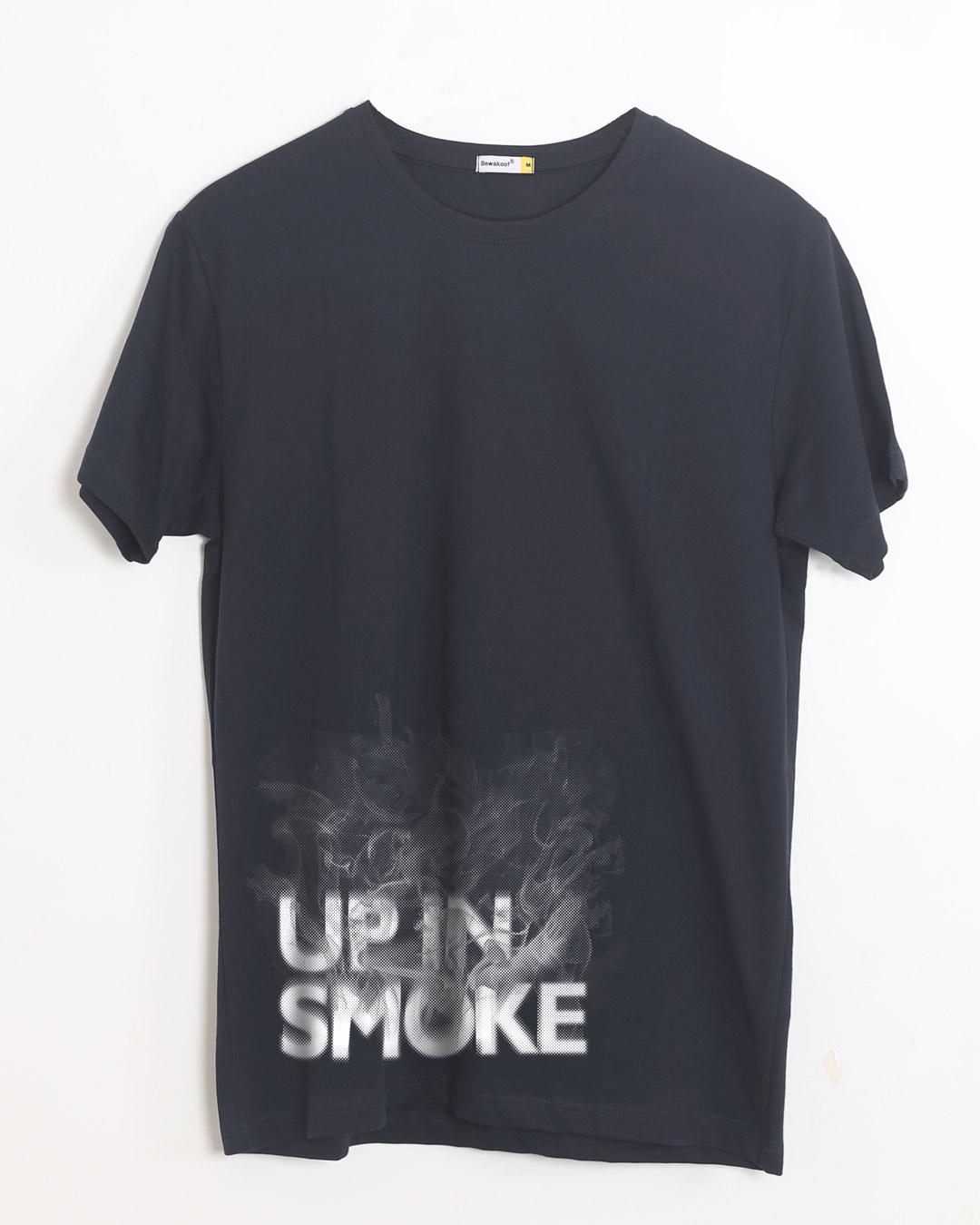 Up in smoke typography half sleeve t shirt up in smoke for Full sleeve t shirts online