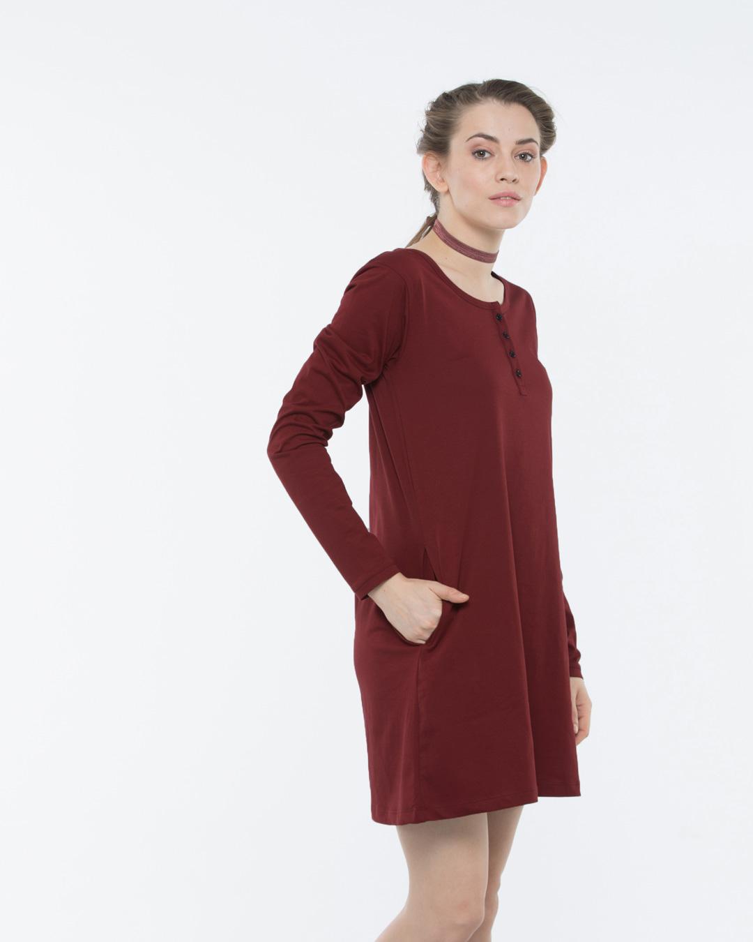7e5a4e9db8dc Plain Red T Shirt Dress - BCD Tofu House