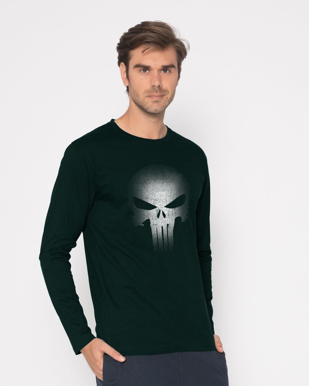 63856e8f Buy Warrior Punisher Pine Green Printed Full Sleeve T-Shirt For Men ...