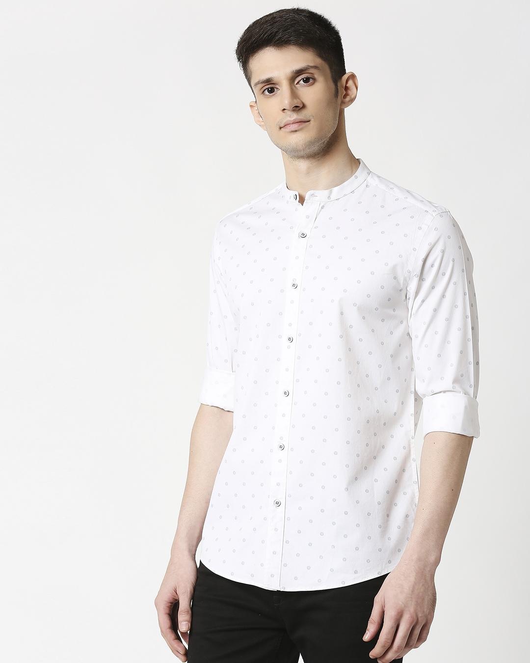 ShopWhite Prnt Twill Lycra Print Shirt-Design