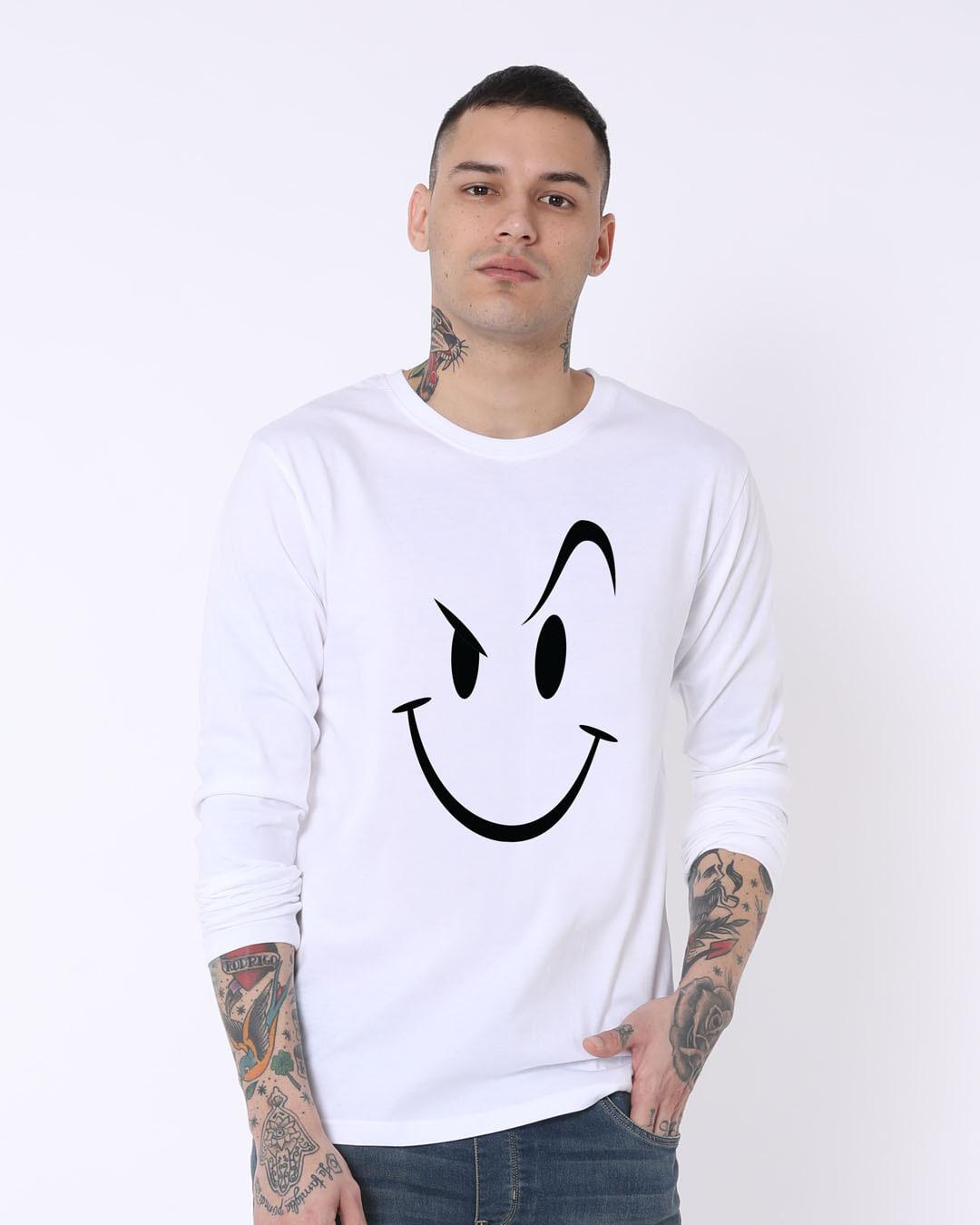 56e8417241 Buy Wink New White Printed Full Sleeve T-Shirt For Men Online India ...