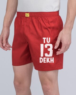 Shop 13 Tu Dekh Bhai Side Printed Boxer-Front