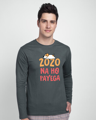 Shop 2020 Na Ho Payega Full Sleeve T-Shirt Nimbus Grey-Front