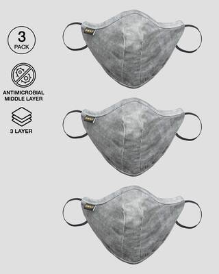 Shop 3 Panel Fashion Mask Combo of 3 (Beach Brown)-Front