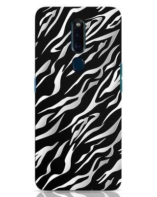 Shop 3d Zebra Print Oppo F11 Pro Mobile Cover-Front