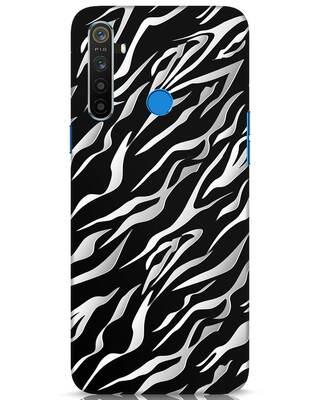 Shop 3d Zebra Print Realme 5 Mobile Cover-Front