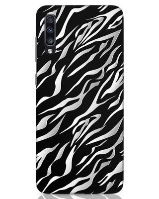 Shop 3d Zebra Print Samsung Galaxy A70 Mobile Cover-Front