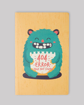 Shop 404 Error Notebook-Front