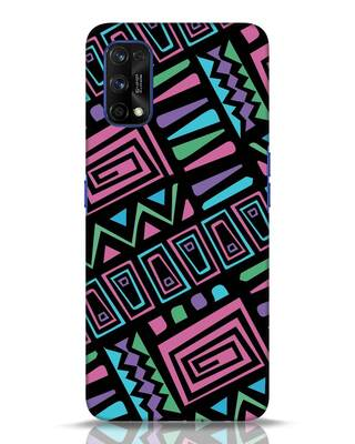 Shop 90s Wall Art Colorful Realme 7 pro Mobile Cover-Front