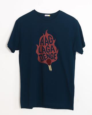 Shop Aag Laga Denge Half Sleeve T-Shirt-Front
