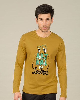 Shop Aaj Kal Ka Ladka Full Sleeve T-Shirt-Front