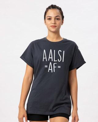 Shop Aalsi Af Boyfriend T-Shirt-Front