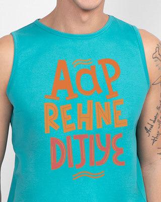 Shop Aap Rehne Dijiye Round Neck Vest Tropical Blue-Front