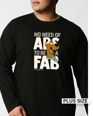 Shop Abs To Fab (SDL) Full Sleeves Plus Size T-Shirt-Front