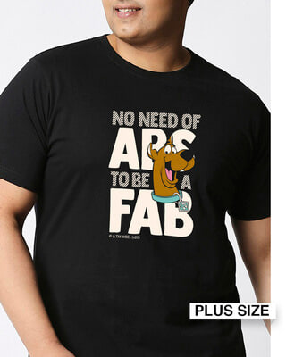 Shop Abs To Fab (SDL) Half Sleeve Plus Size T-Shirt-Front