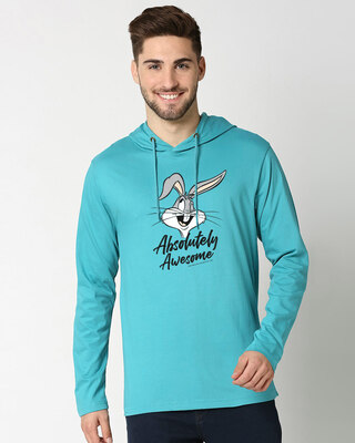 Shop Absolutely Awesome Bunny Full Sleeve Hoodie-Front