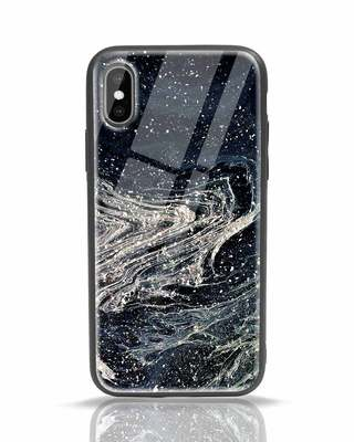 Shop Abstract Glitter iPhone X Glass Mobile Cover-Front
