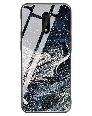 Shop Abstract Glitter OnePlus 7 Glass Mobile Cover-Front