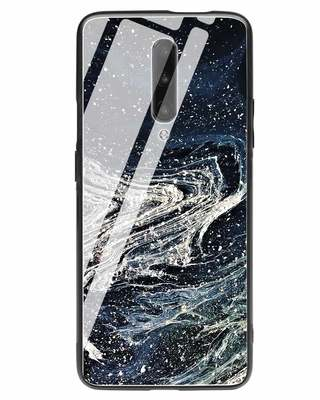 Shop Abstract Glitter OnePlus 7 Pro Glass Mobile Cover-Front