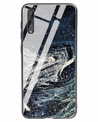 Shop Abstract Glitter Samsung Galaxy A50 Glass Mobile Cover-Front