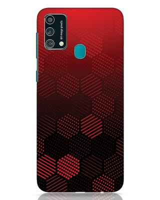 Shop Abstract Hexagon Dots Samsung Galaxy F41 Mobile Cover-Front