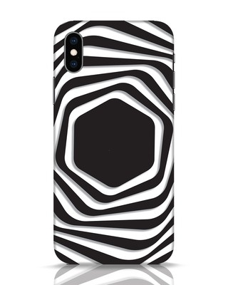 Shop Abstract Line iPhone XS Mobile Cover-Front