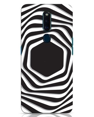 Shop Abstract Line Oppo F11 Pro Mobile Cover-Front